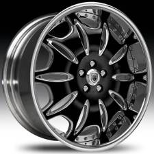 Asanti AFC401 Black-Chrome Two-Tone Curve Forged