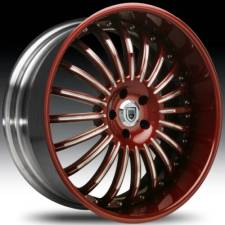 Asanti AFC402 Maroon-Chrome 2-Tone Curve Forged