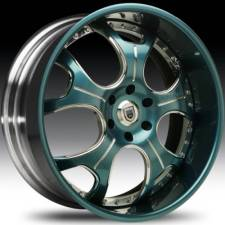 Asanti AFC403 Teal-Chrome 2-Tone Curve Forged
