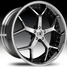 Asanti AF164 Chrome & Black Step Forged Wheels