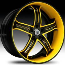 Asanti AF167 Black & Yellow Step Forged Wheels