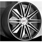 Avat AV6 Black Machined Wheels