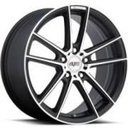 Avat AV8 Black Machined Wheels