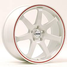 Axis Halo White w/Red Stripe