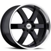Black Rhino Pondora Black Machined Lip Wheel