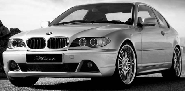 BMW 330 on Asanti AF128 chrome wheels