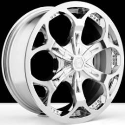 BSA 347 Chrome Wheels