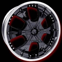 20 inch Cabo 719 Black Wheels