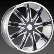 DCenti Wheels DW 29 Chrome Wheels w/ Black Inserts