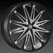 DCenti DW 5B Black Machined Wheels