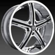 DCenti DW 708A Chrome Wheels with Black Inserts