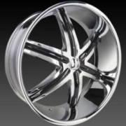 DCenti DW 9B Chrome Wheels with Black Inserts