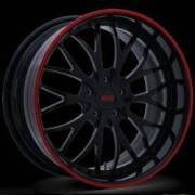 Donz Wheels Giancana Luchese Black Red