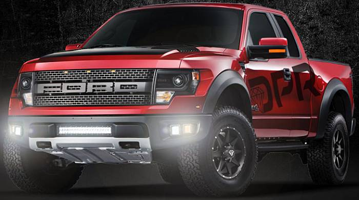 Ford Raptor riding on DPR Stealth Offroad Wheels