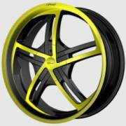 DVINCI Cinque Black w/Yellow color stitching