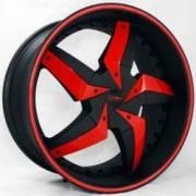 DVINCI Gira Black w/Red color stitching