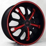 DVINCI Pazzo Black w/Red Color Stitching