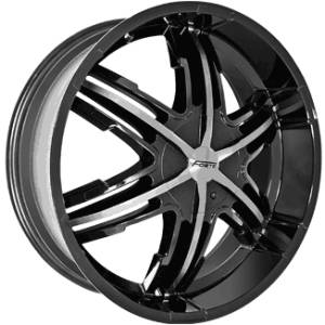 Forte F55 Black Mirror Custom Wheels