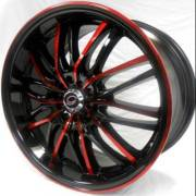 G-Line 3108 Gloss Black with Red