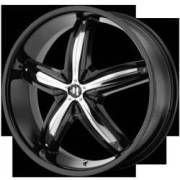 Helo Wheels HE844 Gloss Black with Chrome Accents