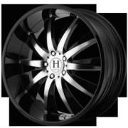 Helo Wheels HE851 Gloss Black Machined