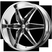 Helo Wheels HE866 Chrome with Black Accents