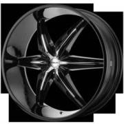 Helo Wheels HE866 Gloss Black with Chrome Accents