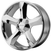 KMC Clone 20x9 +15mm BLANK* Chrome Wheels