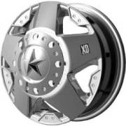 KMC XD Series XD775 Rockstar Dually Chrome Front