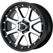 KMC XD Series XD798 Addict Matte Black Machined