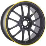Konig Daylight Black w/Yellow Stripe