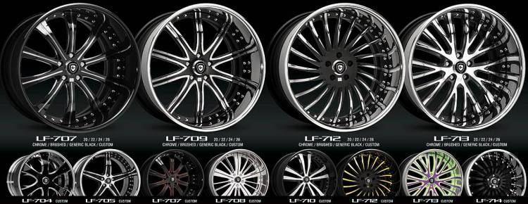 Lexani 3PC Forged Wheels