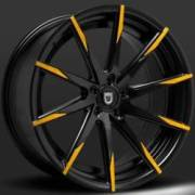 Lexani CSS-15 Black with Yellow Tips