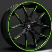 Lexani R-Twelve Black with Green Accents