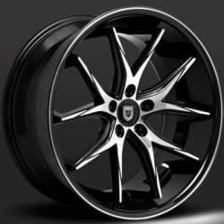 Lexani R-Twelve Machined Black