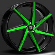 Lexani CSS-7 Black with Green Face