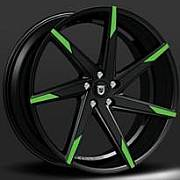 Lexani CSS-7 Black with Green Tip