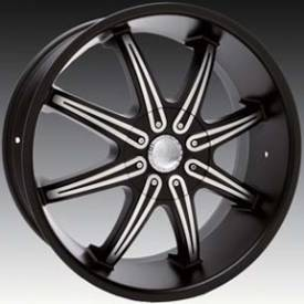 Massa MS48 Matte Black Machined Wheel 472