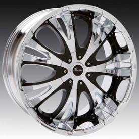 Massa MS49 Chrome Wheels with Black Inserts 1064