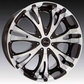 Massa MS49 Gloss Black Machined Wheels 1064