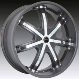 Massa MS50 Black Wheels with Chrome Inserts 419