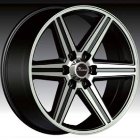 Massa MS51 Gloss Black Machined Wheel 485