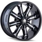 Mayhem Beast 8102 Black Milled Wheels