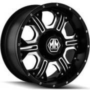 Mayhem Havoc 8020 Matte Black Milled Wheels