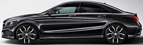Lexani Lust Chrome and Black on Mercedes Benz CLA