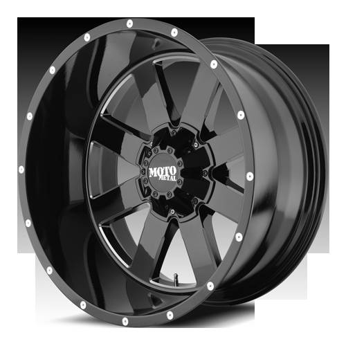 Moto Metal MO962 Gloss Black Milled Wheels