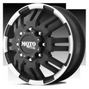 Moto Metal MO963 Front Dually Matte Black Machined