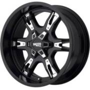 Moto Metal MO969 Satin Black with Chrome Inserts