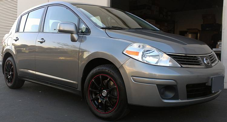 Nissan Versa on Velocity VW211 Black Wheels