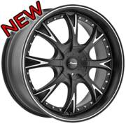Panther 907 Evo Flat Black Custom Wheels